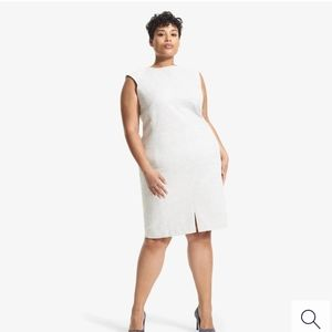MM. Lafleur the Katie twill ponte grey dress
